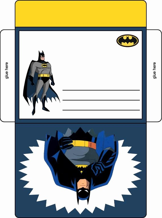Free Printable Batman Invitations Lovely Batman Birthday Party Envelope In Color Batman Birthday