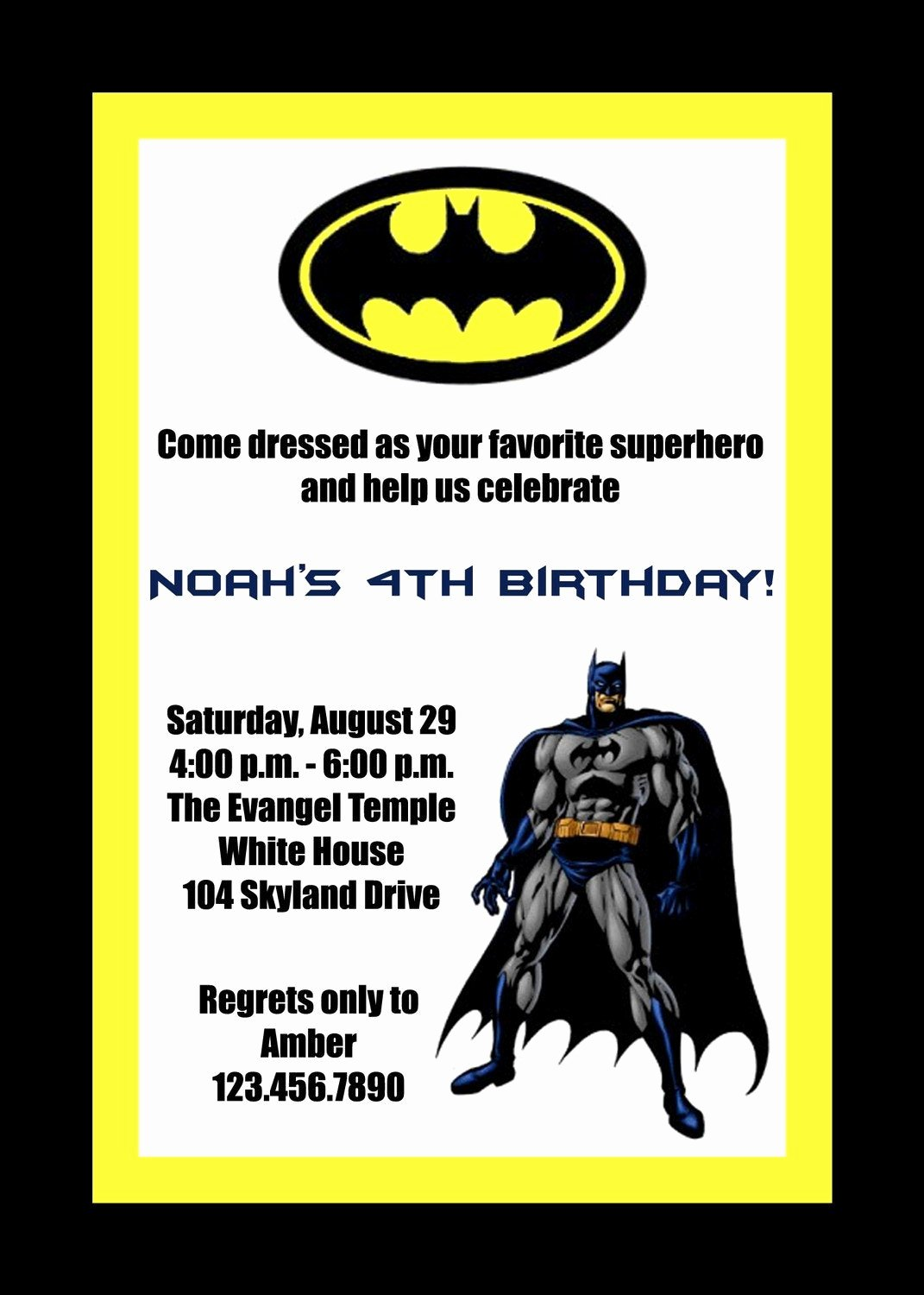 Free Printable Batman Invitations Luxury Items Similar to Custom Printable Batman Birthday Party