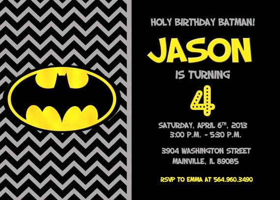 Free Printable Batman Invitations New Batman Superhero Birthday Party Invitation Printable or