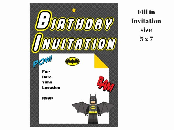 Free Printable Batman Invitations New Lego Batman Invitation Magical Printable