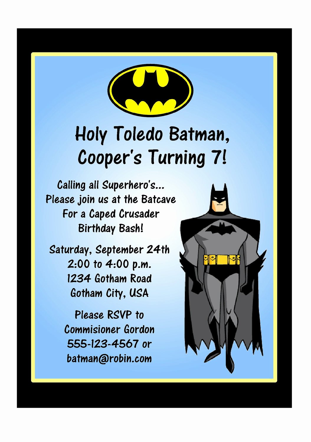 Free Printable Batman Invitations Unique Batman Party Invitations Free Printable