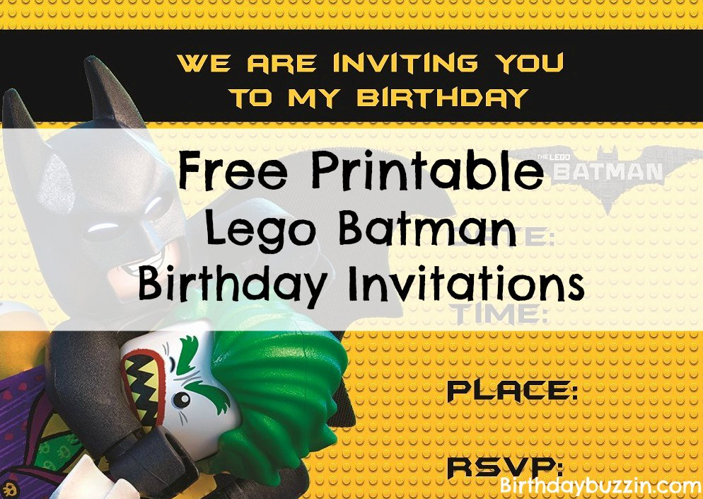 Free Printable Batman Invitations Unique Free Printable Lego Batman Birthday Invitations
