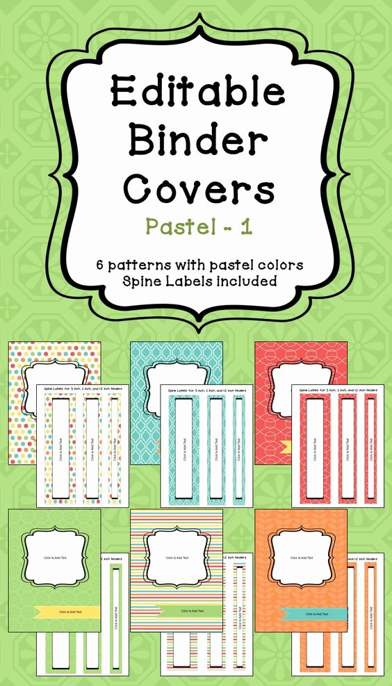 Free Printable Binder Labels Elegant Editable Binder Covers & Spines In Pastel Colors Part 1