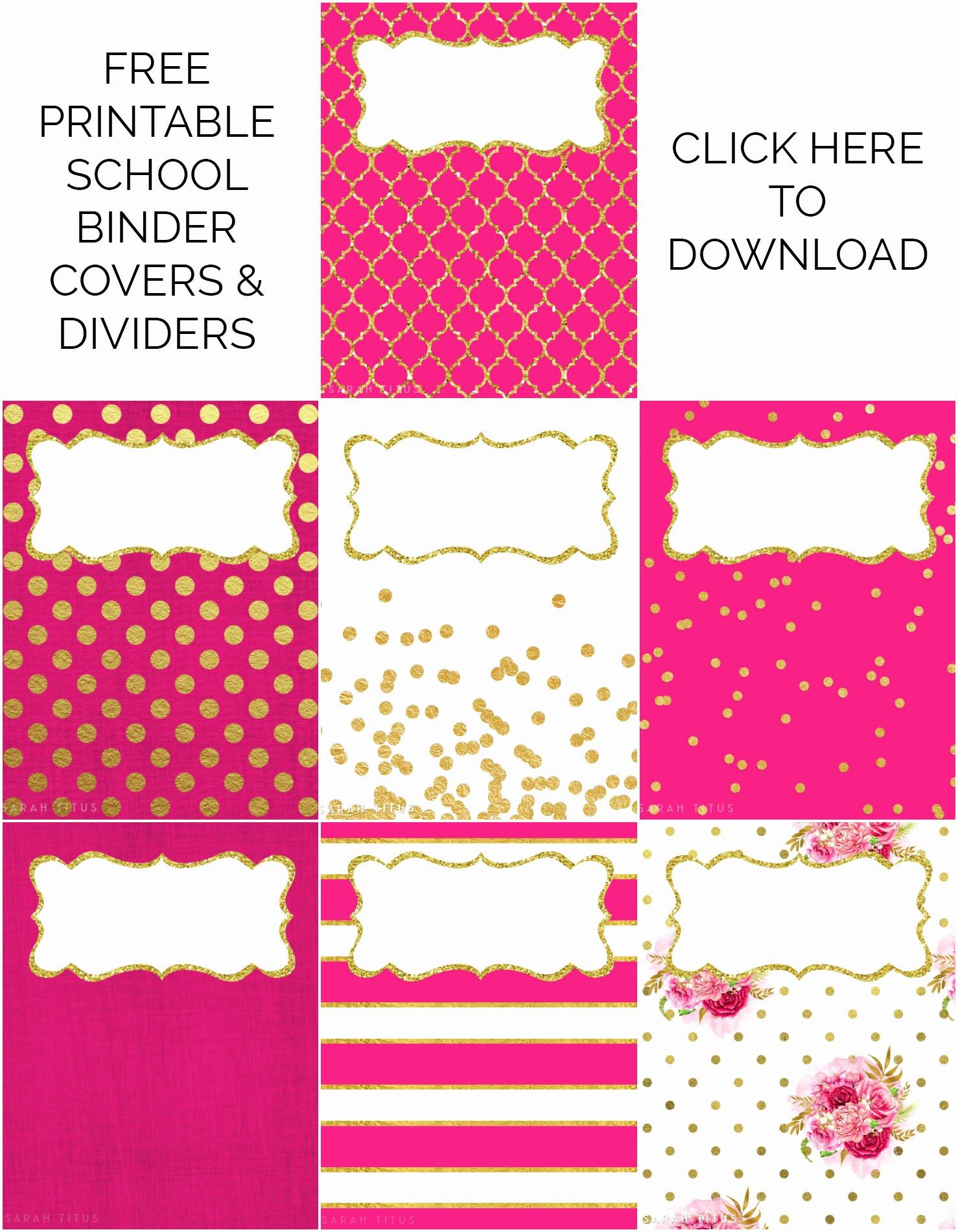 Free Printable Binder Labels Fresh Binder Covers Dividers Free Printables Sarah Titus