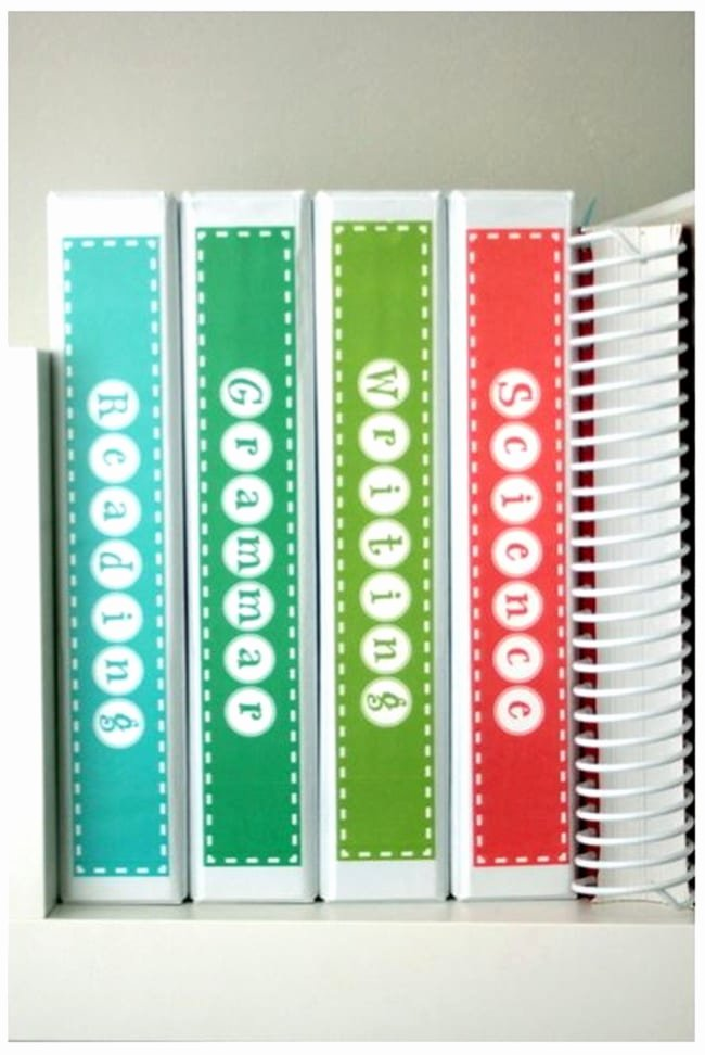 Free Printable Binder Labels Fresh Subject Binder Spine Labels Free Printable Teach Junkie