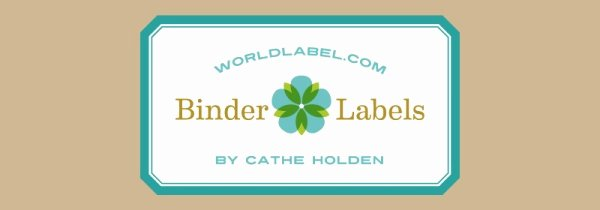 Free Printable Binder Labels Inspirational Binder Labels In A Vintage theme by Cathe Holden