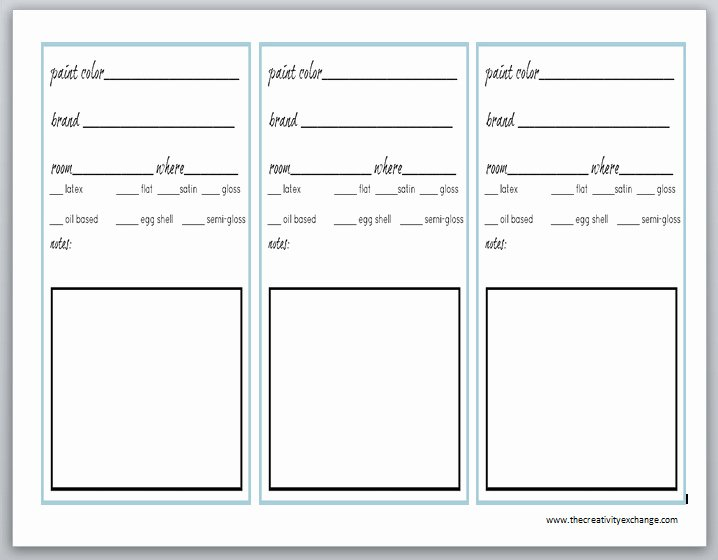 Free Printable Binder Labels New Printable Labels for Paint Cans and Color Binder Sheets