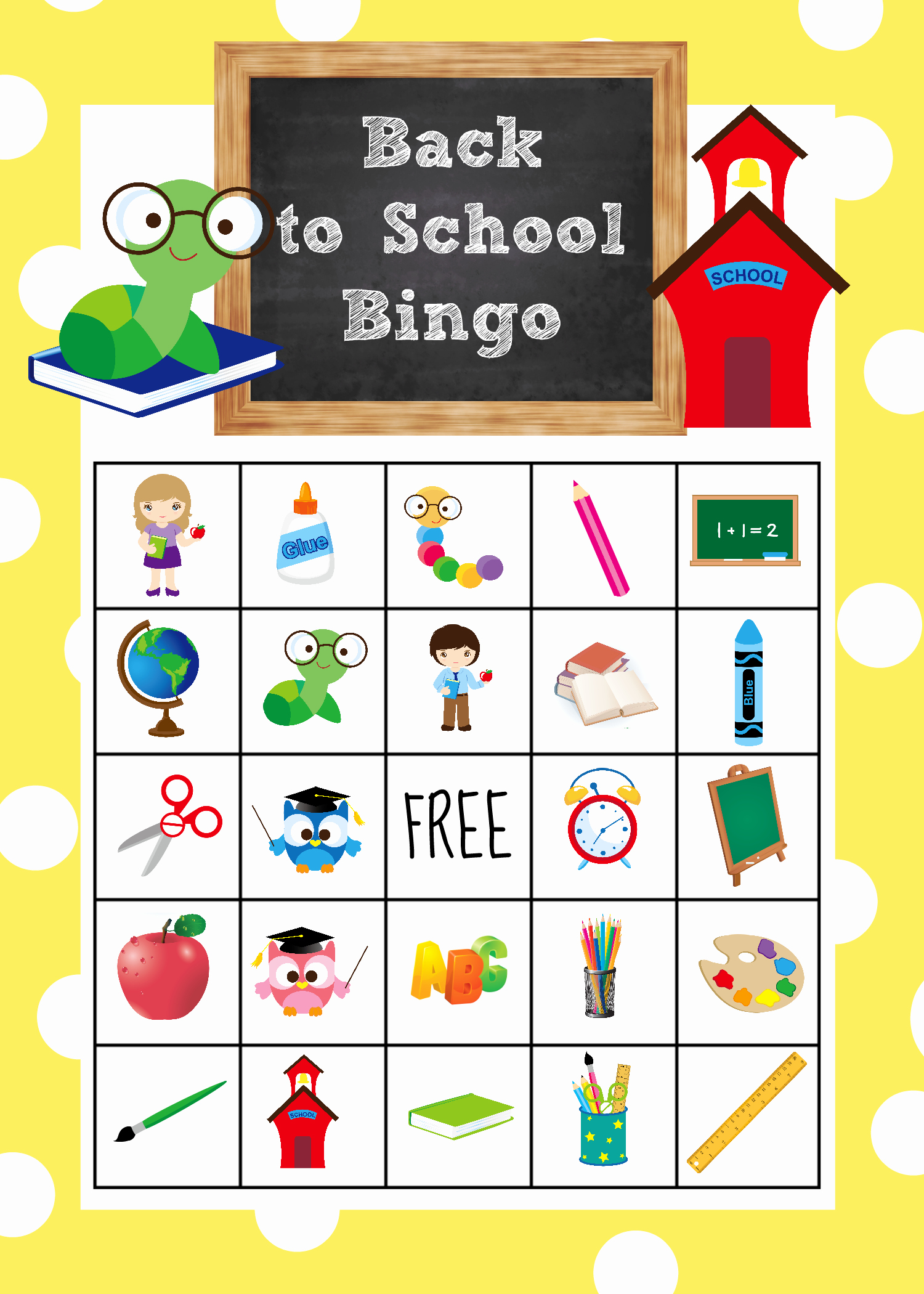 Free Printable Bingo Boards Awesome Back to School Bingo Game to Print & Play Crazy Little