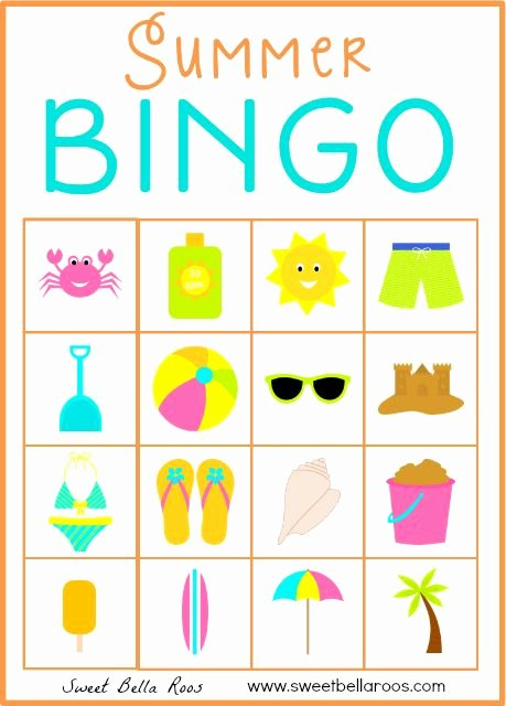 Free Printable Bingo Boards Awesome Summer Bingo Free Printable Holidays Summer