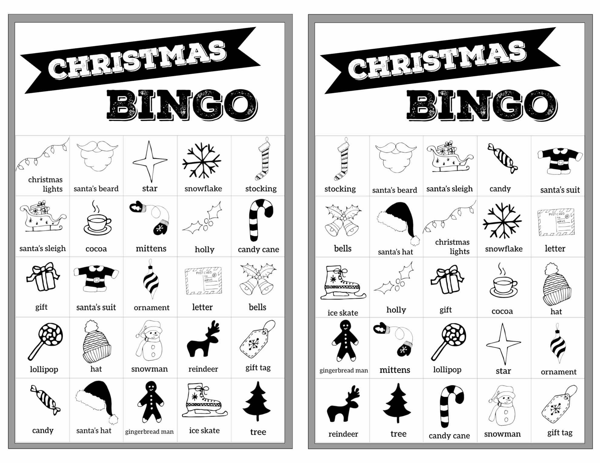 Free Printable Bingo Boards Best Of Free Christmas Bingo Printable Cards Paper Trail Design