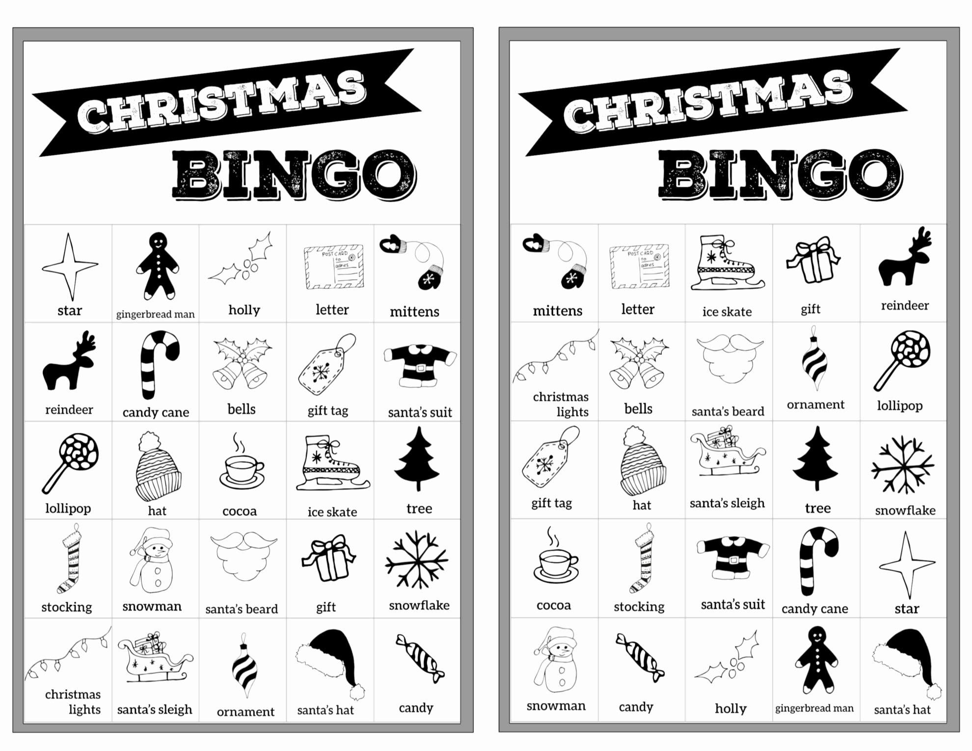 Free Printable Bingo Boards Elegant Free Christmas Bingo Printable Cards Paper Trail Design