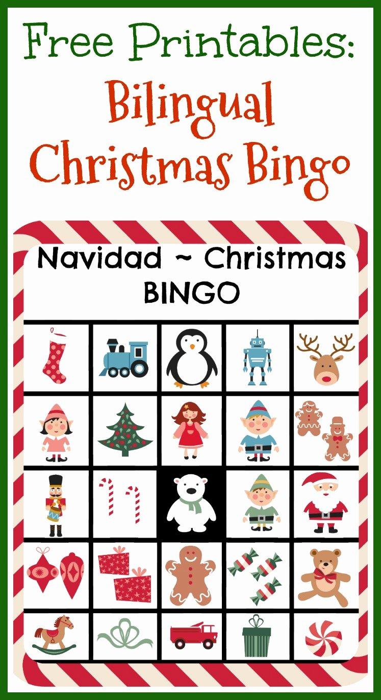 Free Printable Bingo Boards Lovely Free Printables Bilingual Christmas Bingo Ladydeelg