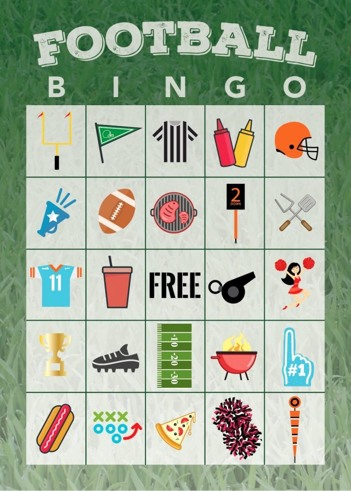 Free Printable Bingo Boards New Free Printable Football Bingo Game the Shirley Journey