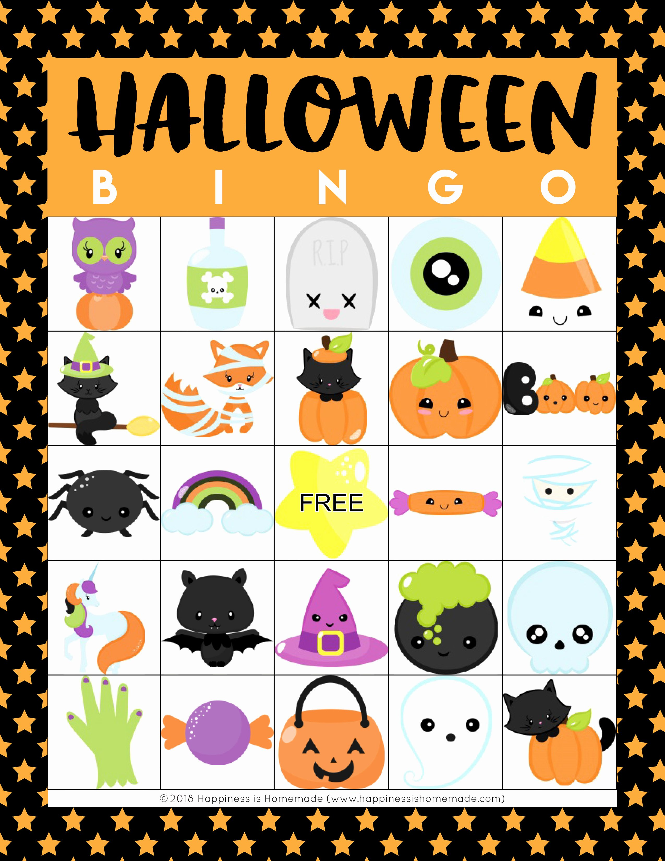 Free Printable Bingo Boards New Printable Halloween Bingo Cards Happiness is Homemade