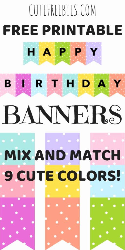 Free Printable Birthday Banner Templates Awesome Happy Birthday Banners Buntings Free Printable