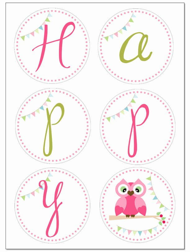 Free Printable Birthday Banner Templates Elegant Owl Birthday Party with Free Printables How to Nest for