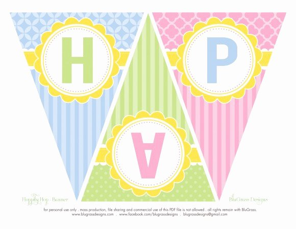Free Printable Birthday Banner Templates Inspirational Free Easter Party Printables From Blugrass Designs