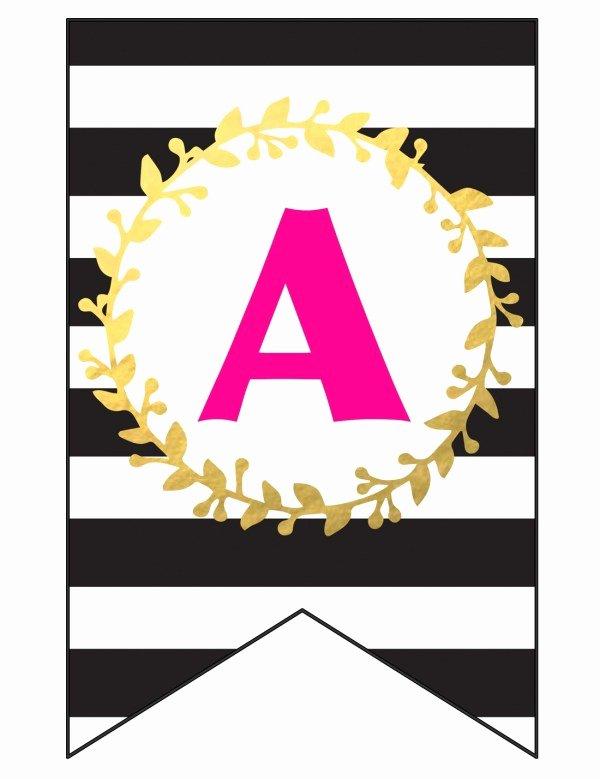 Free Printable Birthday Banner Templates Inspirational Free Printable Happy Birthday Banner and Alphabet Six