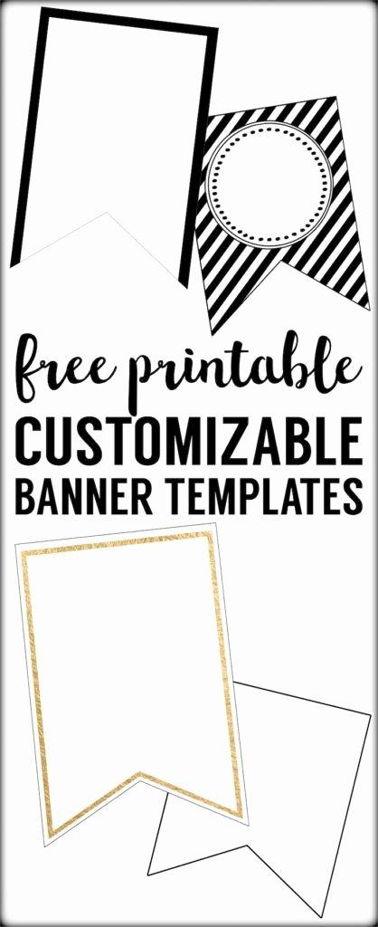 Free Printable Birthday Banner Templates Lovely Free Printable Banner Templates Blank Banners