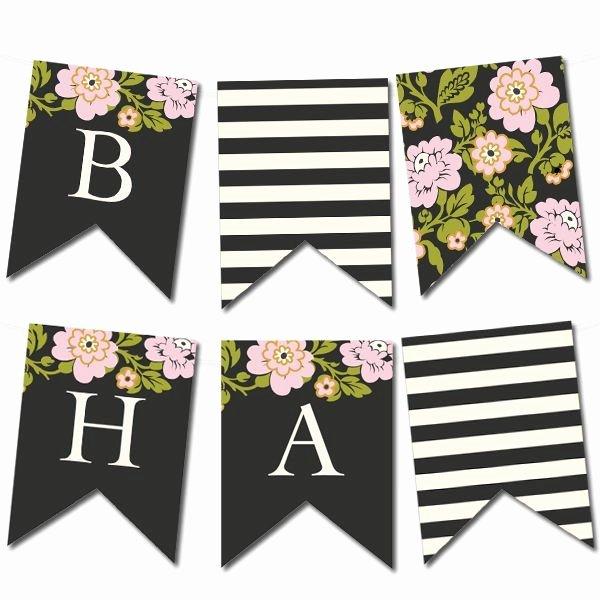 Free Printable Birthday Banner Templates Lovely Whimsical Botanical Banner