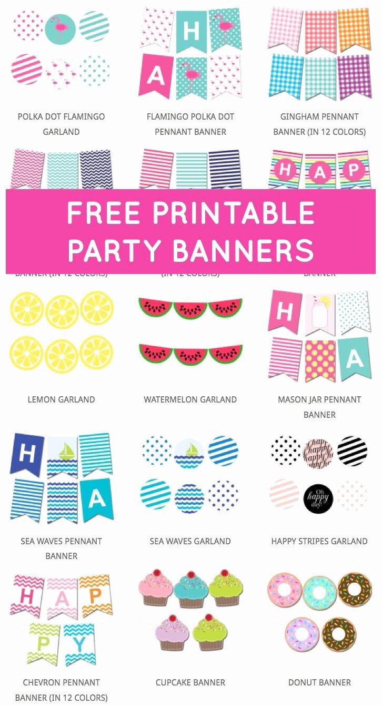 Free Printable Birthday Banner Templates Luxury 25 Best Ideas About Free Printable Banner On Pinterest