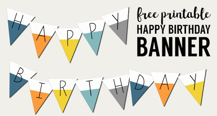 Free Printable Birthday Banner Templates Unique Free Printable Happy Birthday Banner Paper Trail Design