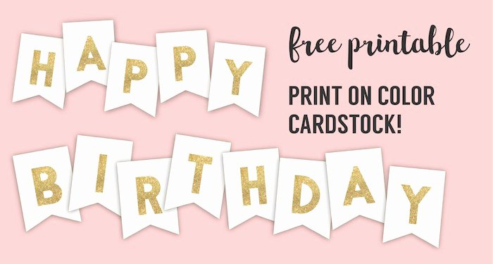 Free Printable Birthday Banner Templates Unique Happy Birthday Banner Printable Template Paper Trail Design