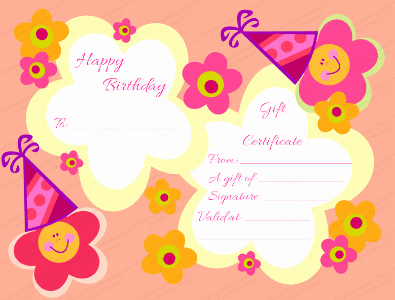 Free Printable Birthday Certificates Beautiful Gift Certificate Templates