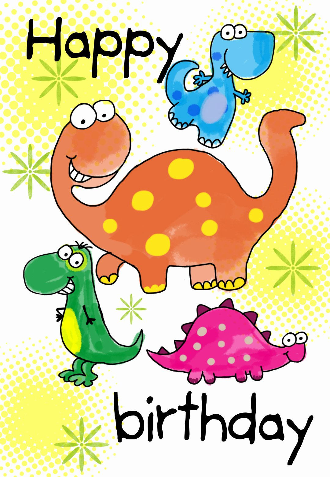 Free Printable Birthday Certificates Inspirational Four Cute Dinosaurs Birthday Card