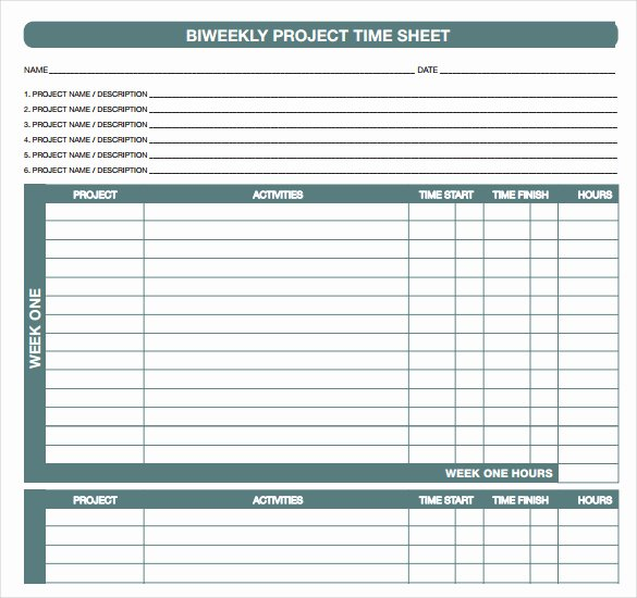 Free Printable Biweekly Time Sheets Awesome Printable Biweekly Time Sheets Free Printable Blank Weekly