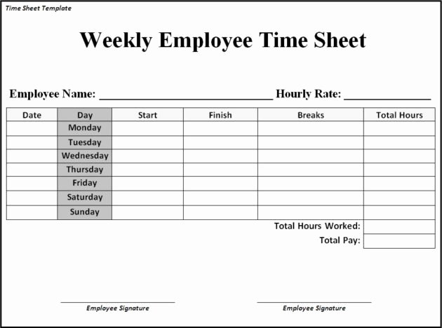 Free Printable Biweekly Time Sheets Awesome Time Sheet Templates Free