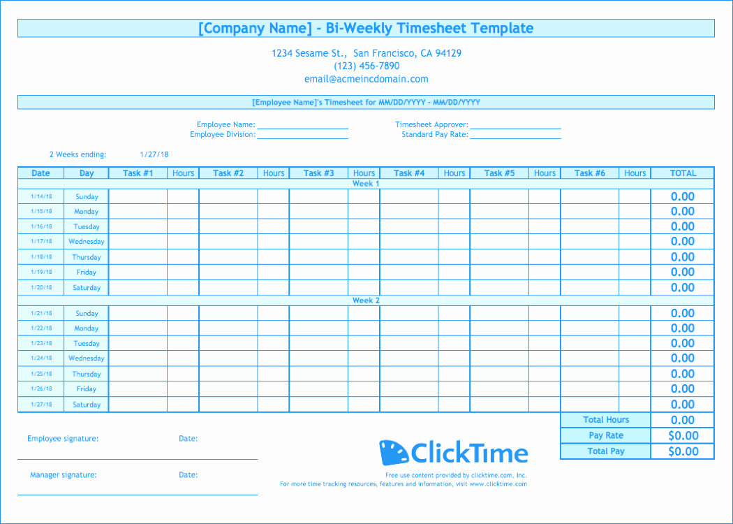 Free Printable Biweekly Time Sheets Beautiful Biweekly Timesheet Template Free Excel Templates