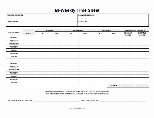 Free Printable Biweekly Time Sheets Luxury Biweekly Time Sheet Free Printable Allfreeprintable