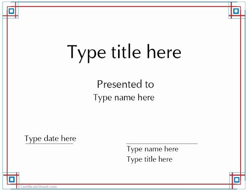 Free Printable Blank Certificates Awesome Blank Certificates Award Certificate Template