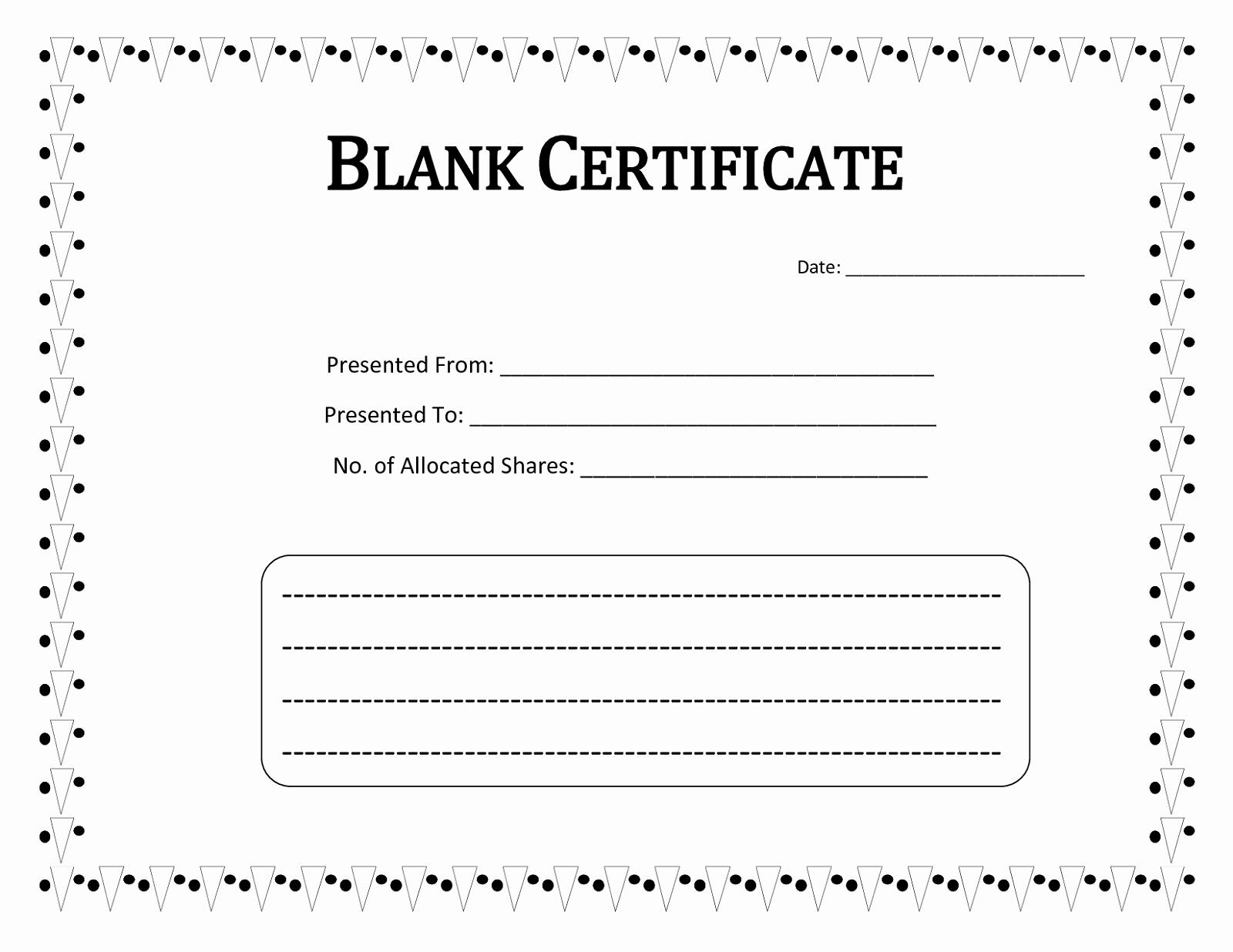 Free Printable Blank Certificates Beautiful Blank Certificate Templates to Print