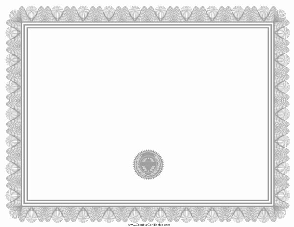Free Printable Blank Certificates Best Of Free Blank Certificate Print Blank or Customize Online Free