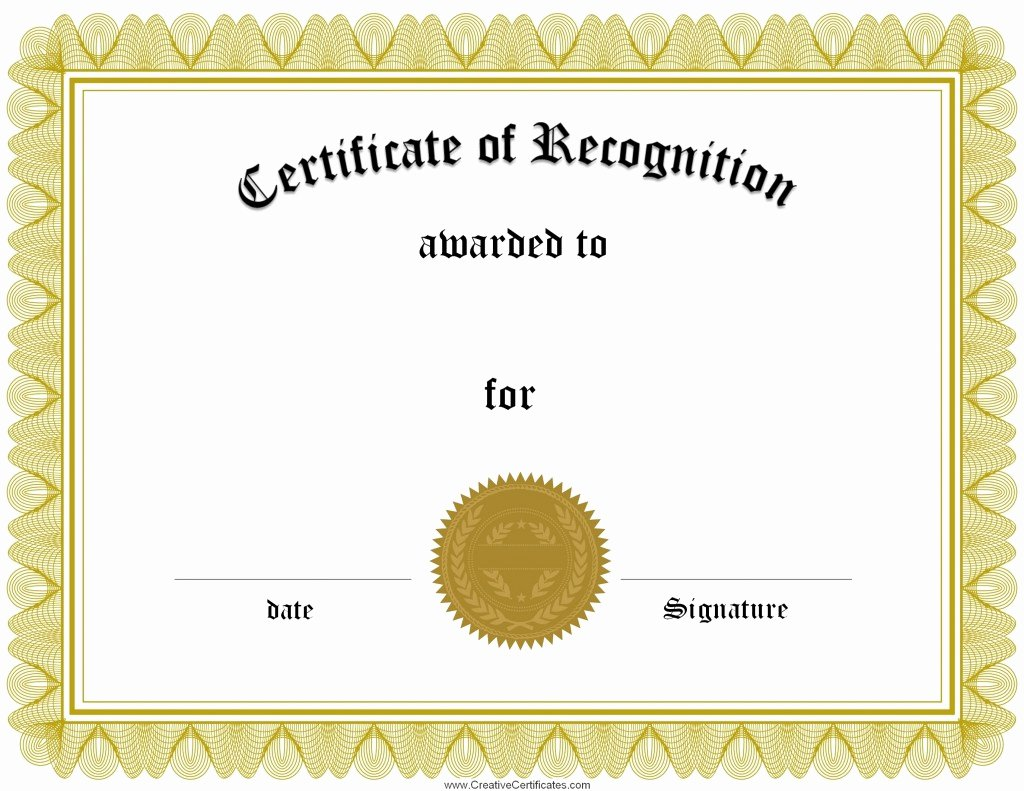 Free Printable Blank Certificates Fresh Award Certificate Template