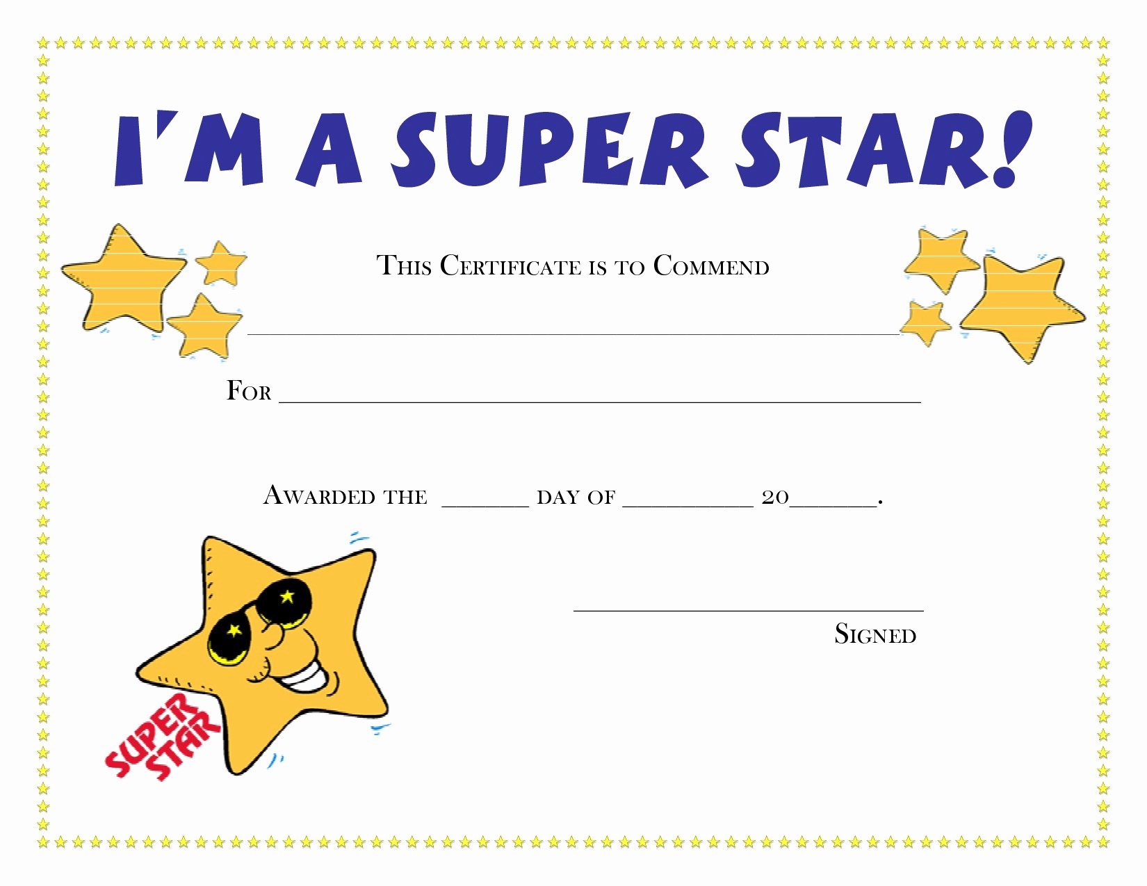 Free Printable Blank Certificates New Printable Certificate