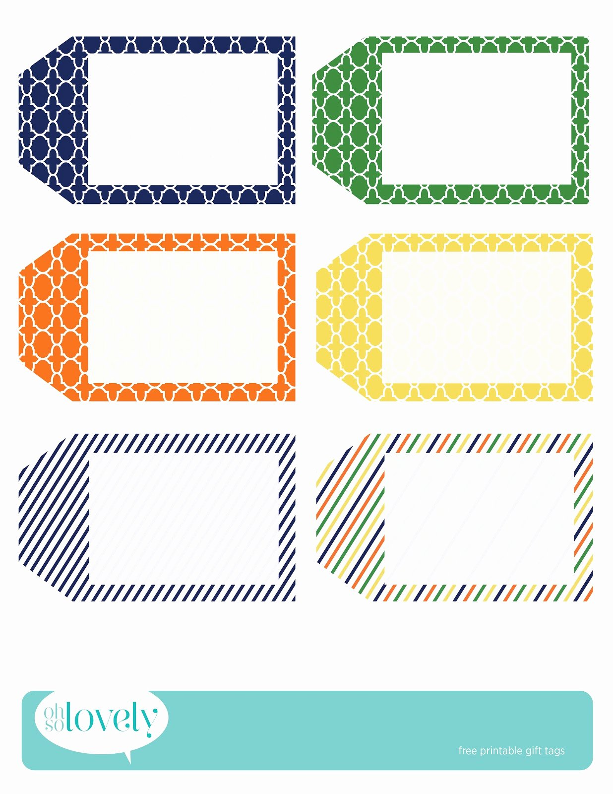 Free Printable Blank Gift Tags Beautiful Freebies Gift Tags Oh so Lovely Blog