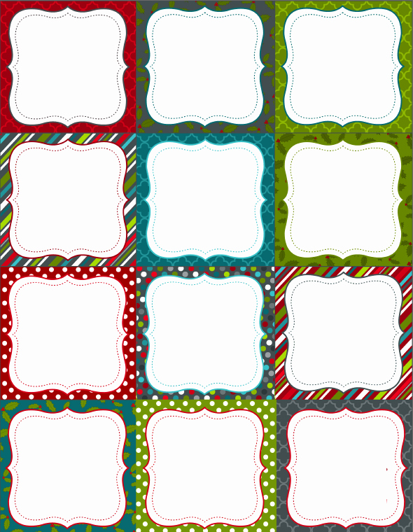 Free Printable Blank Gift Tags Beautiful Printable Christmas Labels for Homemade Baking