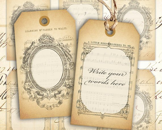 Free Printable Blank Gift Tags Fresh Digital Collage Sheet Blank Vintage T Tags Instant