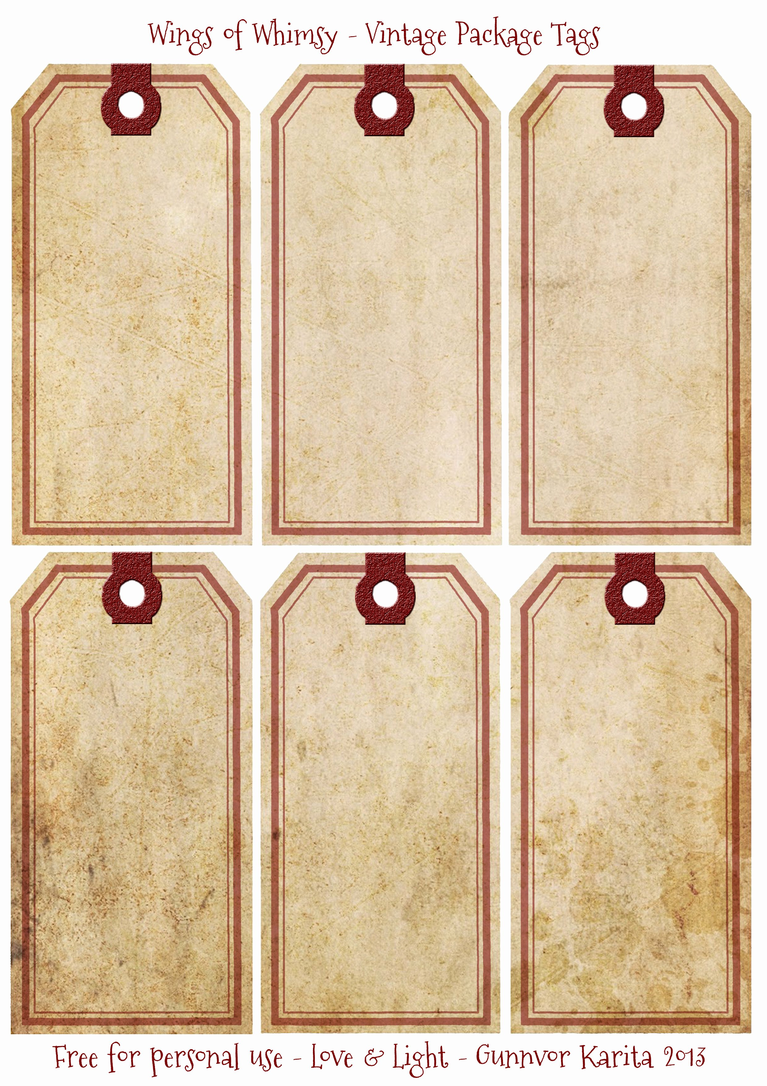 Free Printable Blank Gift Tags Fresh Victorian Tags Galore – Free Printables for You – Wings Of