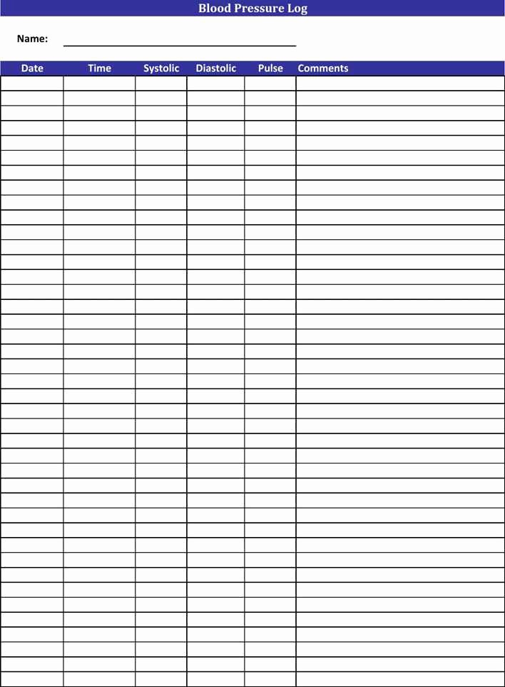 Free Printable Blood Pressure Log Luxury Download Blood Pressure Log for Free Tidytemplates