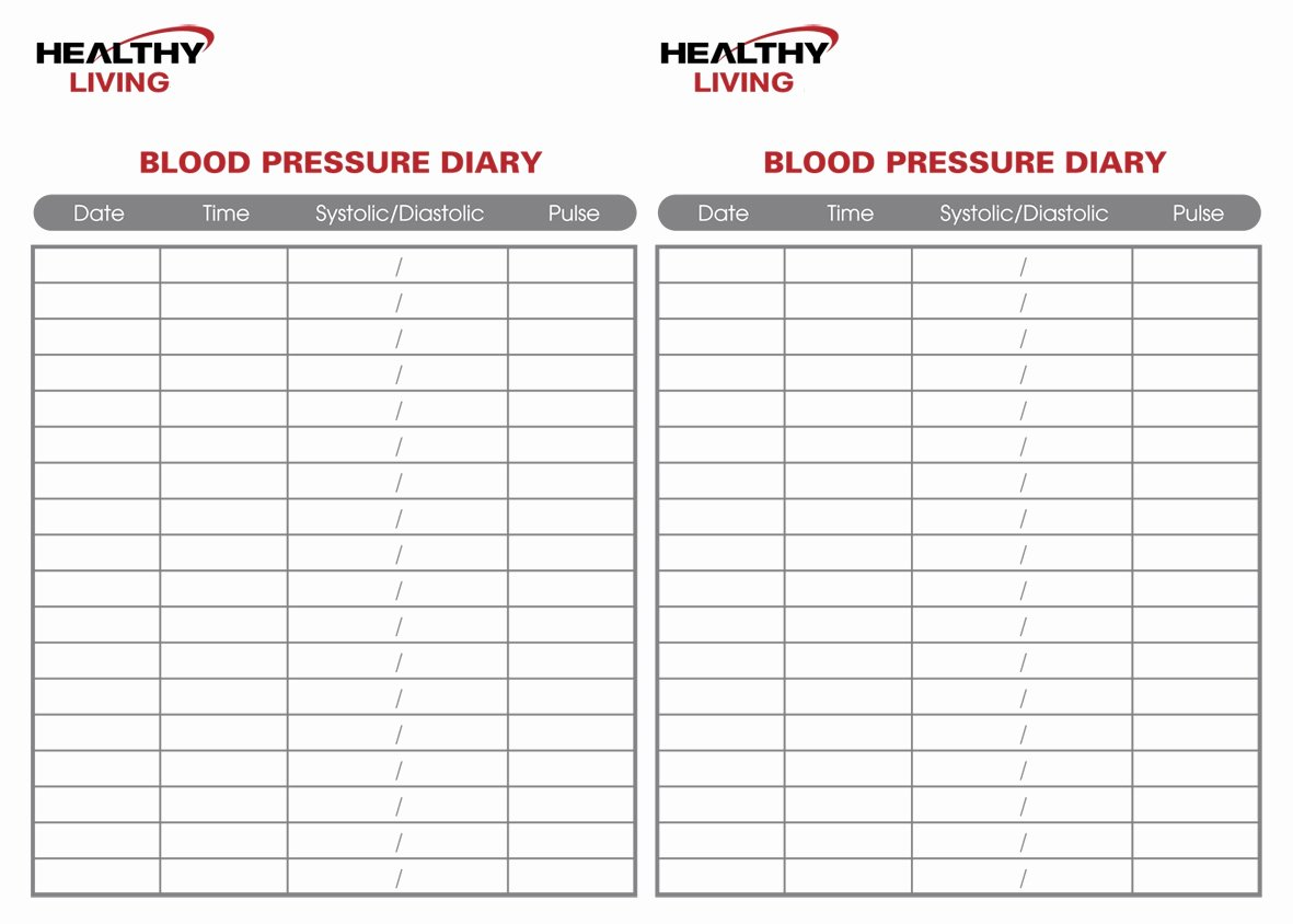Free Printable Blood Pressure Log New 19 Blood Pressure Chart Templates Easy to Use for Free