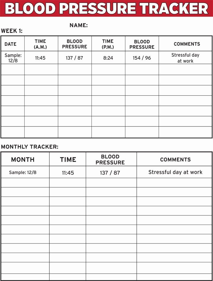 Free Printable Blood Pressure Log New Blood Pressure Tracker E Sheet the Dr Oz Show
