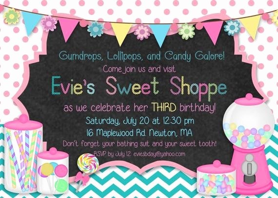 Free Printable Candyland Invitations Awesome Items Similar to Printable Sweet Shoppe Candyland Birthday