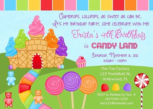 Free Printable Candyland Invitations Beautiful 25 Best Candy Birthday Cards Ideas On Pinterest