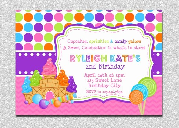 Free Printable Candyland Invitations Best Of Candyland Birthday Invitation Sweet Shoppe Candyland Birthday