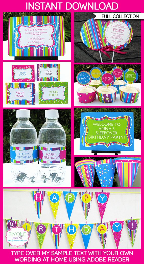 candyland party invitations decorations