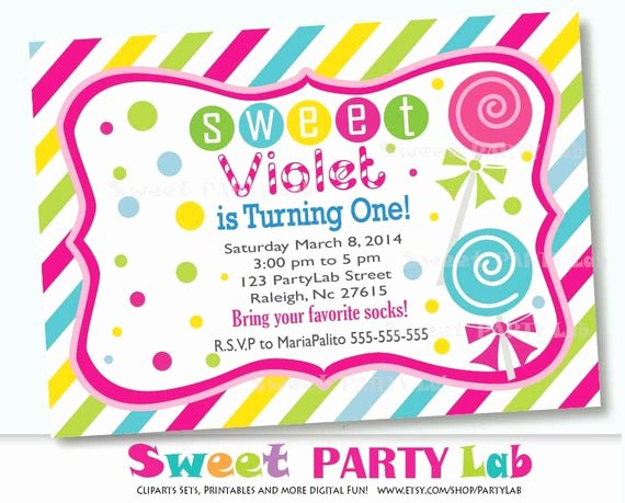 Free Printable Candyland Invitations Elegant Candyland Printable Invitation Personalized by Partymazing